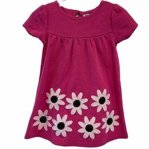 Hartstrings pink daisy flower dress 18M